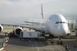 Traveled on the A380 test flight from Chicago