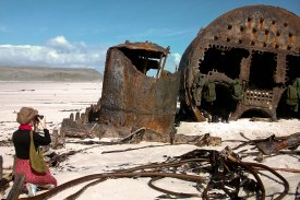 Photographed a shipwreck