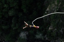 Bungee jumped